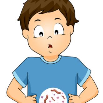 Viermii nu sunt vizibili la copil, Formă rotundă de vierme